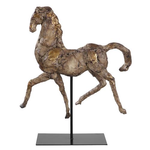 Uttermost Caballo Dorado Horse Sculpture