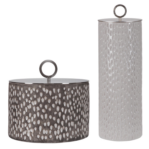Uttermost Cyprien Ceramic Containers, S/2