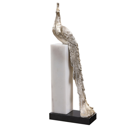 Uttermost Overseer Peacock Sculpture