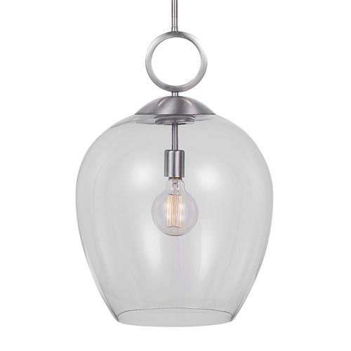Uttermost Calix Nickel 1 Light Glass Pendant