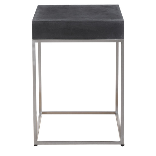 Uttermost Jase Black Concrete Accent Table