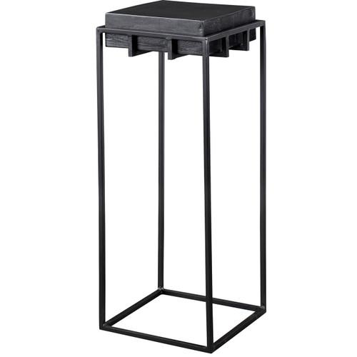 Uttermost Telone Black Small Pedestal