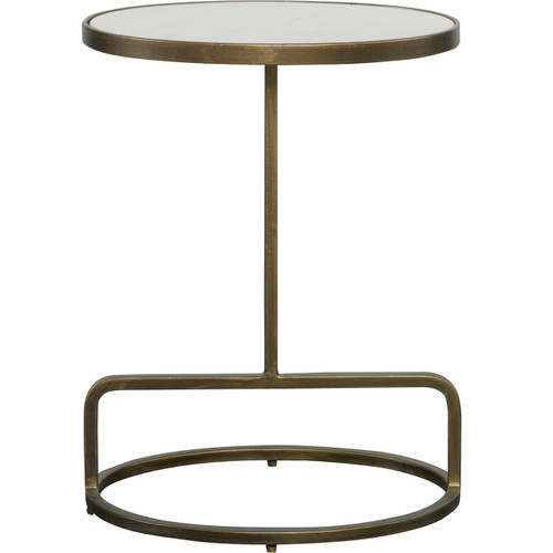 Uttermost Jessenia White Marble Accent Table