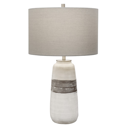 Uttermost Comanche White Crackle Table Lamp