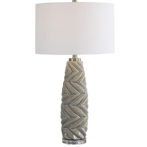 Uttermost Kari Light Gray Table Lamp