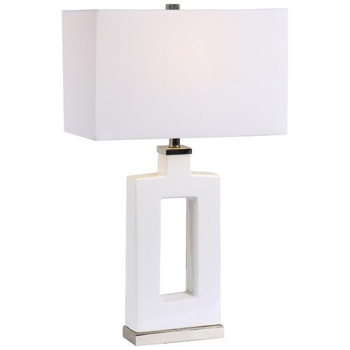 Uttermost Entry Modern White Table Lamp