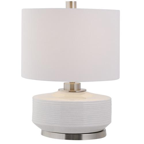Uttermost Sailor Stripe White Table Lamp