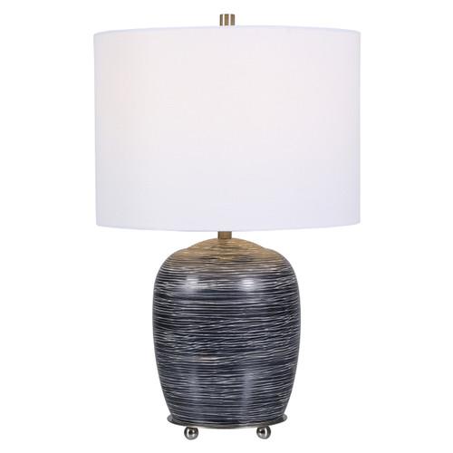 Uttermost Transpose Satin Black Table Lamp