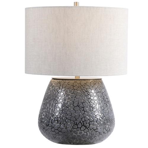 Uttermost Pebbles Metallic Gray Table Lamp