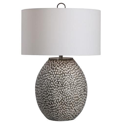 Uttermost Cyprien Gray White Table Lamp
