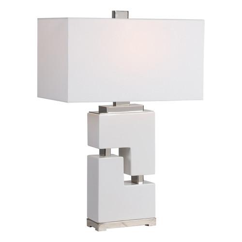 Uttermost Tetris White Table Lamp