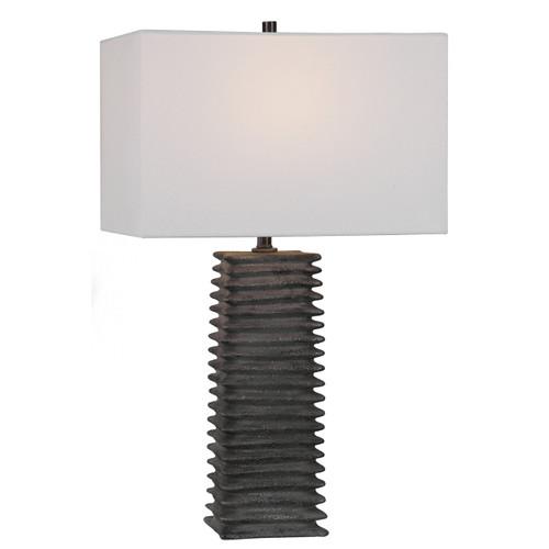 Uttermost Sanderson Metallic Charcoal Table Lamp