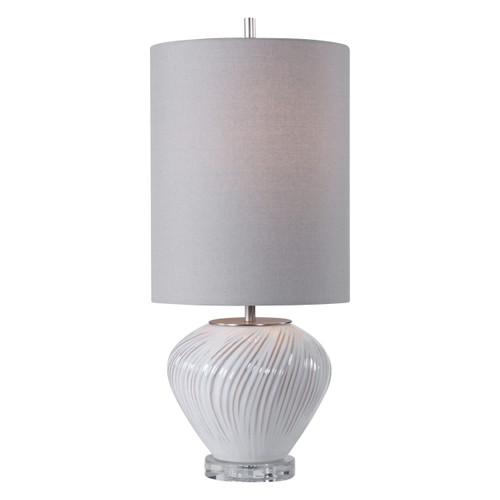 Uttermost Lucerne White Buffet Lamp