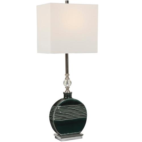 Uttermost Recina Dark Teal Buffet Lamp