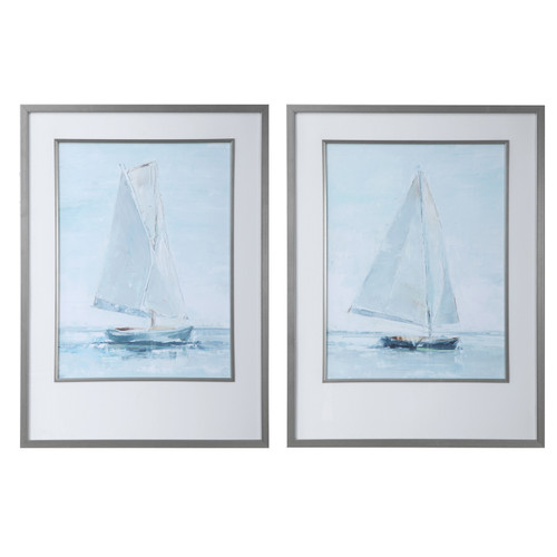 Uttermost Seafaring Framed Prints, S/2