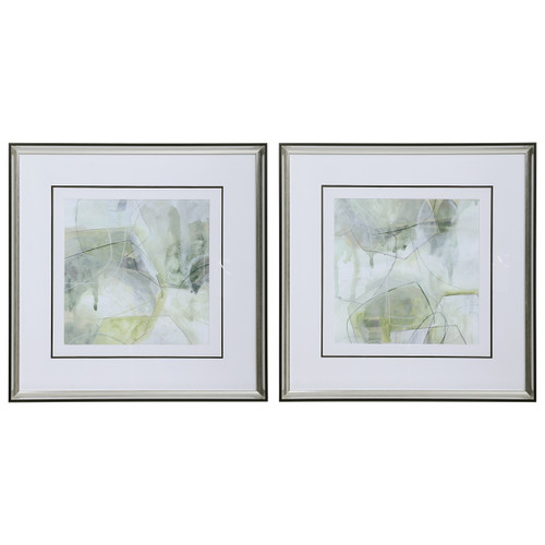 Uttermost Terra Forma Framed Modern Prints, S/2