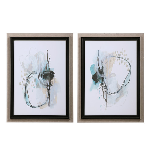 Uttermost Force Reaction Abstract Prints, S/2