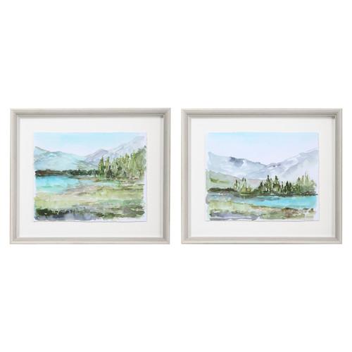 Uttermost Plein Air Reservoir Watercolor Prints, S/2