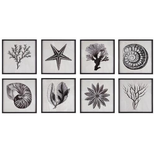 Uttermost Sea Living Framed Prints, S/8