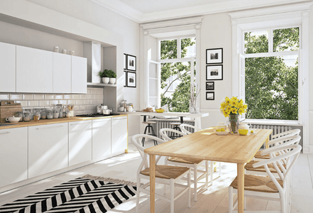 Area Rugs Give Kitchen an Instant Update