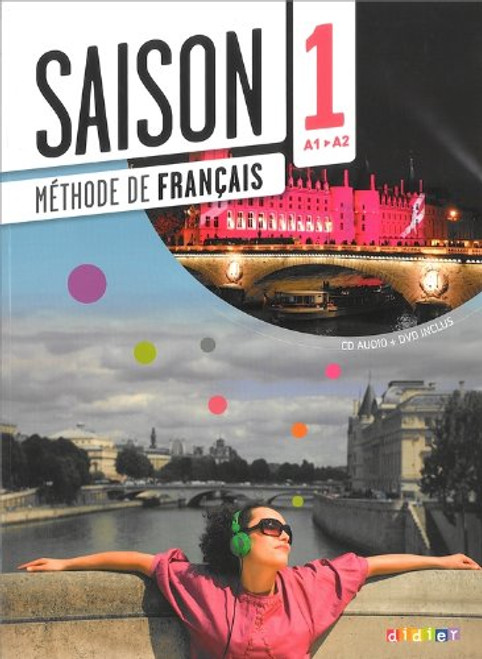 French Language learning textbook Saisons niveau 1 Methode de Francais avec cd audio + DVD - A1/A2 Author: Cocton, Marie-Noelle - Published by: Didier ISBN-13:  9782278082650