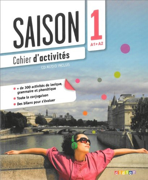French textbook Saison niveau 1 Cahier d'activites avec cd audio - A1/A2