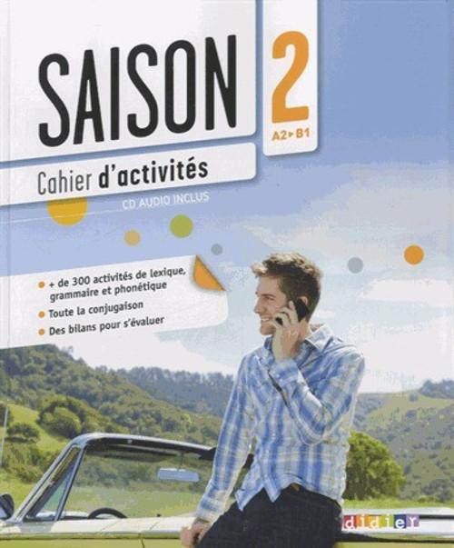 French textbook Saisons niveau 2 Cahier d'activites avec cd audio - A2/B1