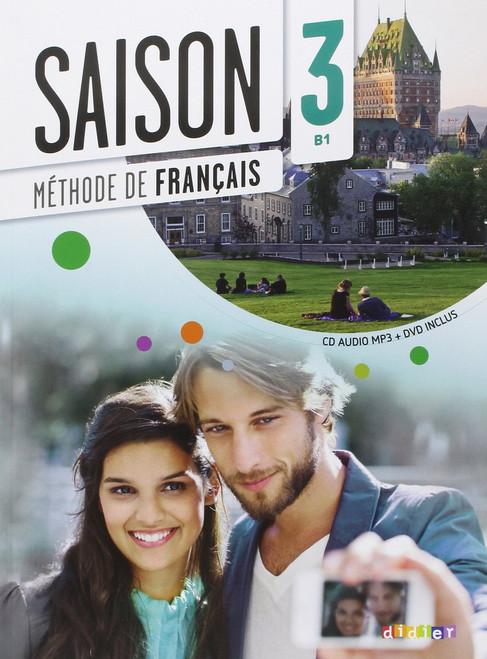 Saison niveau 3 Methode de Francais avec cd audio mp3 + DVD - B1
