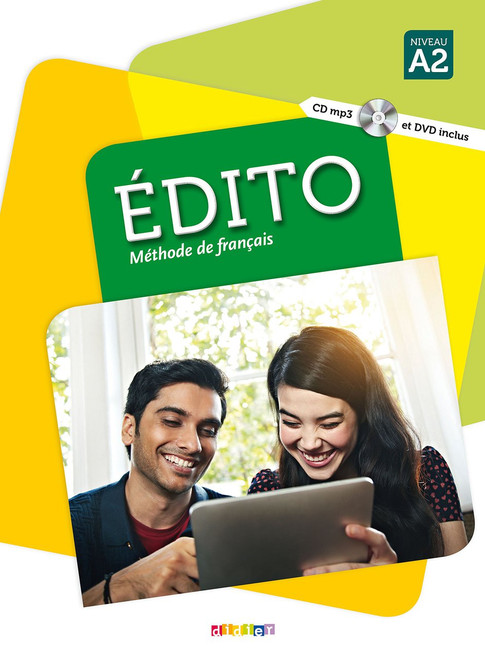 Section: French Language learning textbooks Le nouvel Edito A2 Methode de Francais (with CD audio mp3 and DVD) - 11.2 x 8.3 x 0.4 inches - 216 pages ISBN-13:  9782278083190 Author: Elodie Heu Published by: Didier