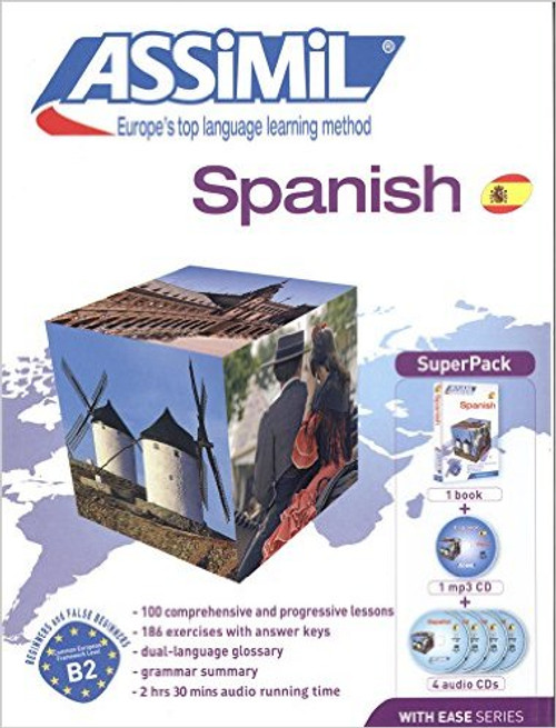 Spanish with ease - Super pack (book + 4cd + 1 cd mp3)