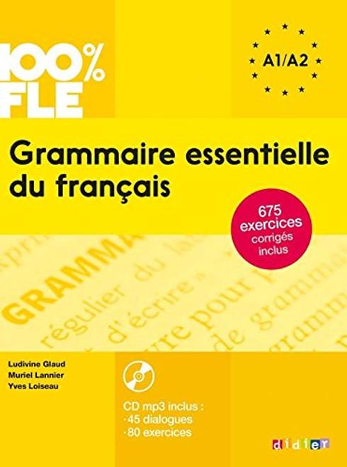 100% FLE Grammaire essentielle francais - A2 - Livre + CDmp3