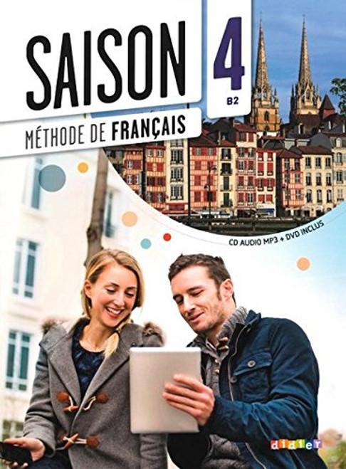 Saison niveau 4 Methode de Francais avec cd audio mp3 + DVD - B2