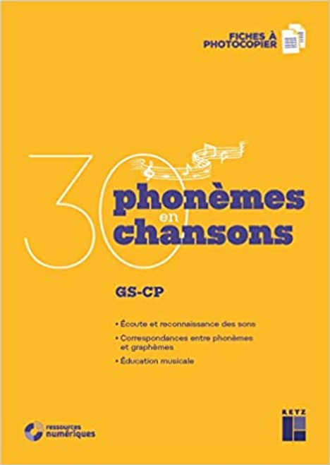 French book 30 Phonemes en 30 chansons + CD audio (GS-CP)