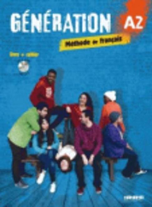 Generation A2 Methode de Francais Livre + cahier + CDmp3 + DVD