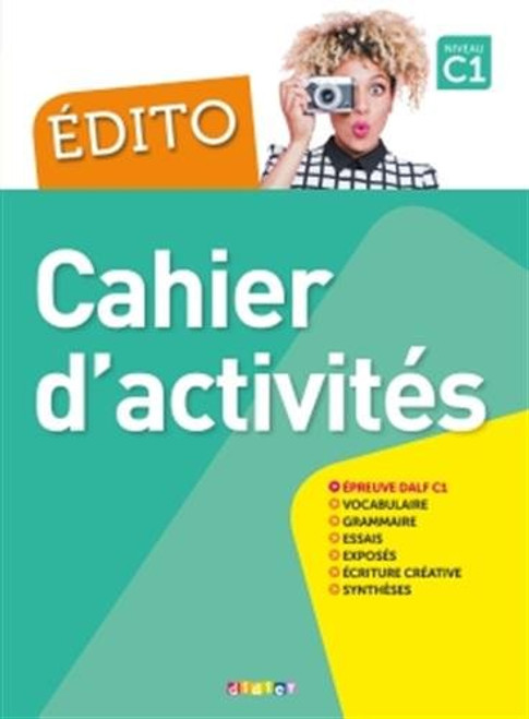 Edito C1 Cahier d'activites (with CD mp3) (2018)