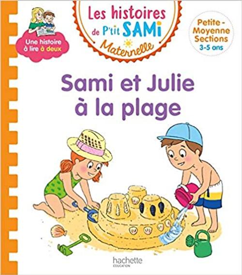 French children's book Les histoires de p'tit Sami: Sami et Julie a la plage