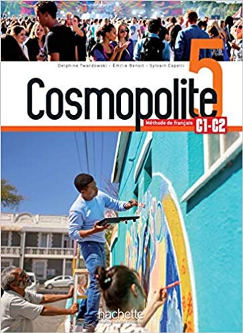 French textbook Cosmopolite Niveau 5 Livre de l'eleve + audio/video telechargeable C1