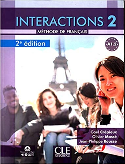 Interactions 2 - Methode de Francais A1.2 with DVD-Rom downloadable - 2eme edition
