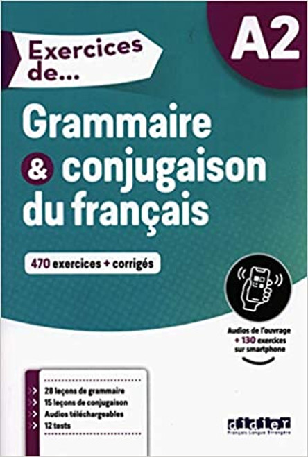 French textbook Exercices de Grammaire et conjugaison du francais A2