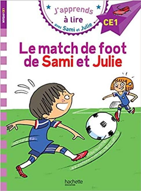 French book Le match de foot  de Sami  et Julie (CE1)