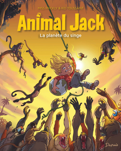 French comic book Animal Jack T3 La planete du singe