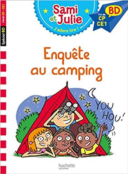 French book Sami et Julie BD: Enquete au camping (Fin de CP - CE1)