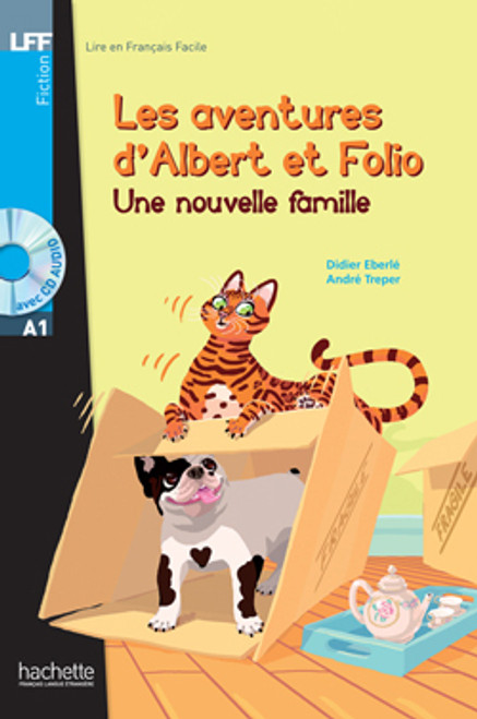 Les aventures d'Albert et Folio - une nouvelle famile (with CD audio ) - Young Easy reader A1
