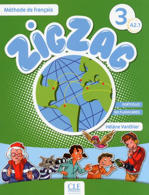 ZigZag 3. Methode de francais Eleve with audio CD A2.1