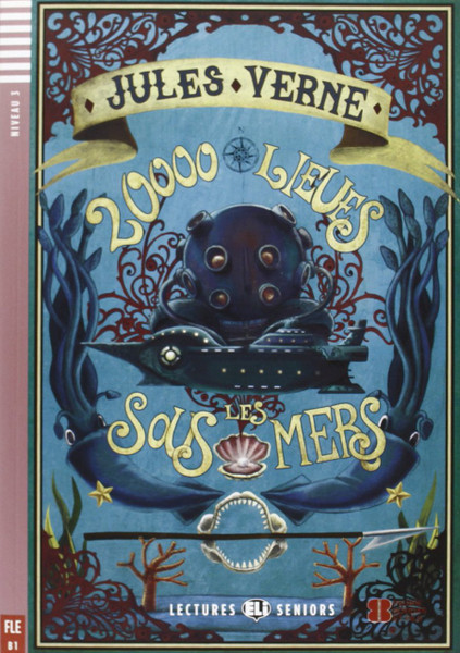 20000 Lieues sous les mers (with CD audio) - Jules Verne - Easy reader B1