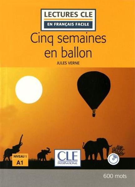 Cinq semaines en ballon + CD audio  Easy reader A1