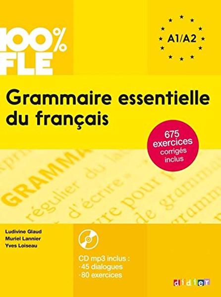 French textbook 100% FLE Grammaire essentielle francais - A2 - Livre + CDmp3