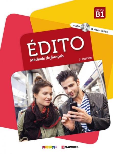 Edito B1 Methode de Francais 2e edition (with CD mp3 and DVD) (2018)