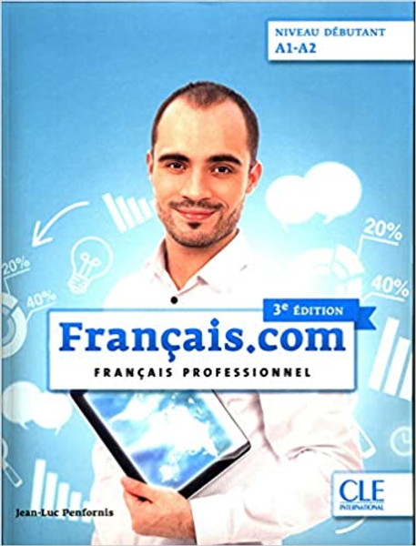 Francais.com Livre eleve Debutant A1/A2 3eme edition + DVD Francais professionnel Author: Penfornis, Jean-Luc Published by: CLE International ISBN-13: 9782090386899 Section: French Language learning textbooks - 8.7 x 0.5 x 11.2 inches - 184 pages