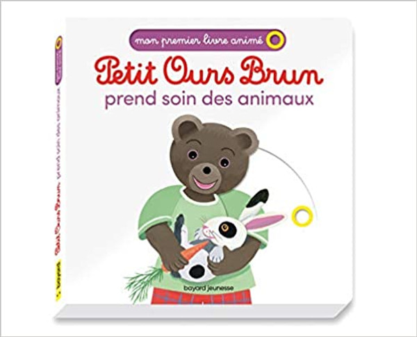 French children's book Petit Ours Brun prend soin des animaux